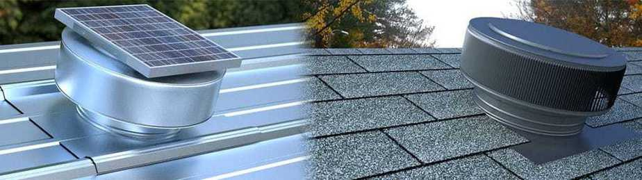 Image Of Two Installed Roof Vents