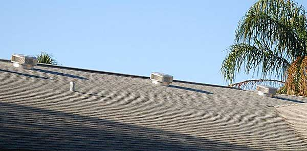 Customer Photo After Hurricane - No Roof Vents Leaking!