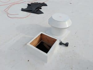 Flat Roof Ventilation - Intake Pop Vent Next To A Roof Curb