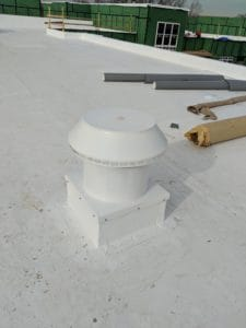 Our Pop Vent With Curb Mount Flange On A Roof Curb - Quick And Easy Installation