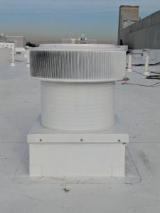 Quick And Easy Installation - Aura Ventilator With Curb Mount Flange On A Roof Curb
