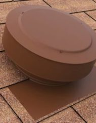 Round Back Vent In Brown On Shingle Roof